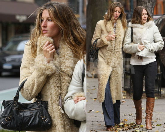 shearling coat | Romantique and Rebel