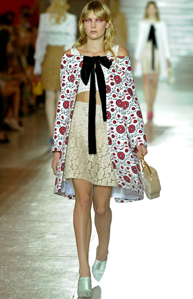 Collections Cheap Online Cotton Checked Blouse Spring/summer Miu Miu Discount Manchester Sale Inexpensive Countdown Package Cheap Online UpjRIW