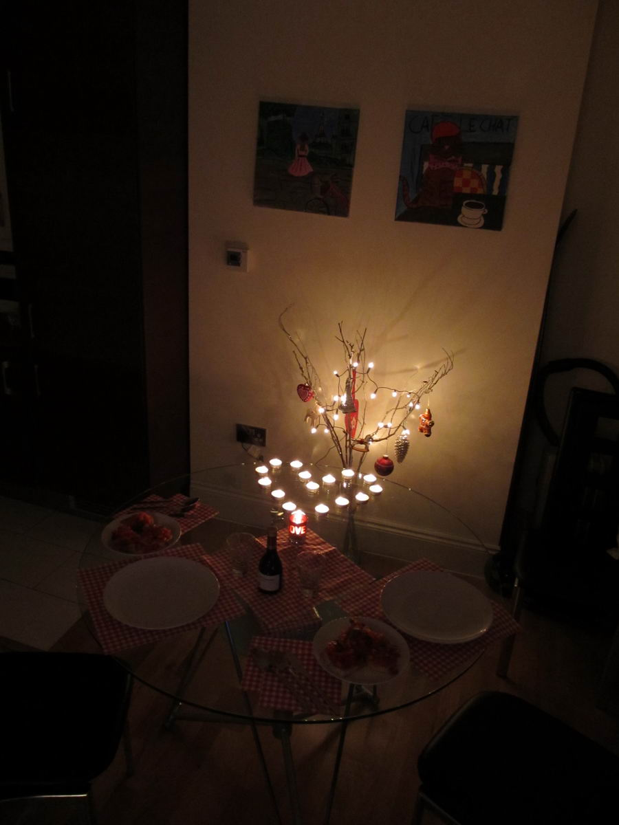 back gallery for romantic dinner at home for him