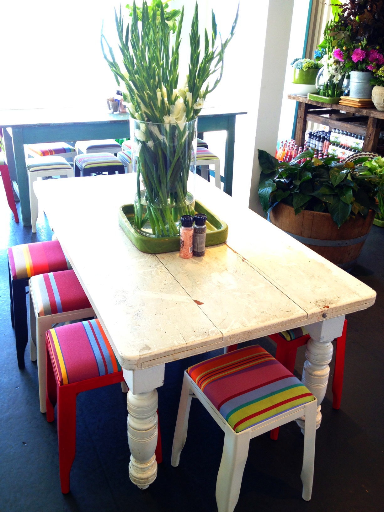 beach house furniture sydney. fresh flowers colourful chairs and white wooden rustic tables u2013 the perfect beach cottage dcor house furniture sydney