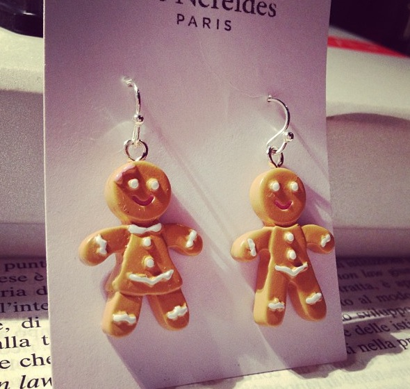 Les Nereides gingerbread earrings
