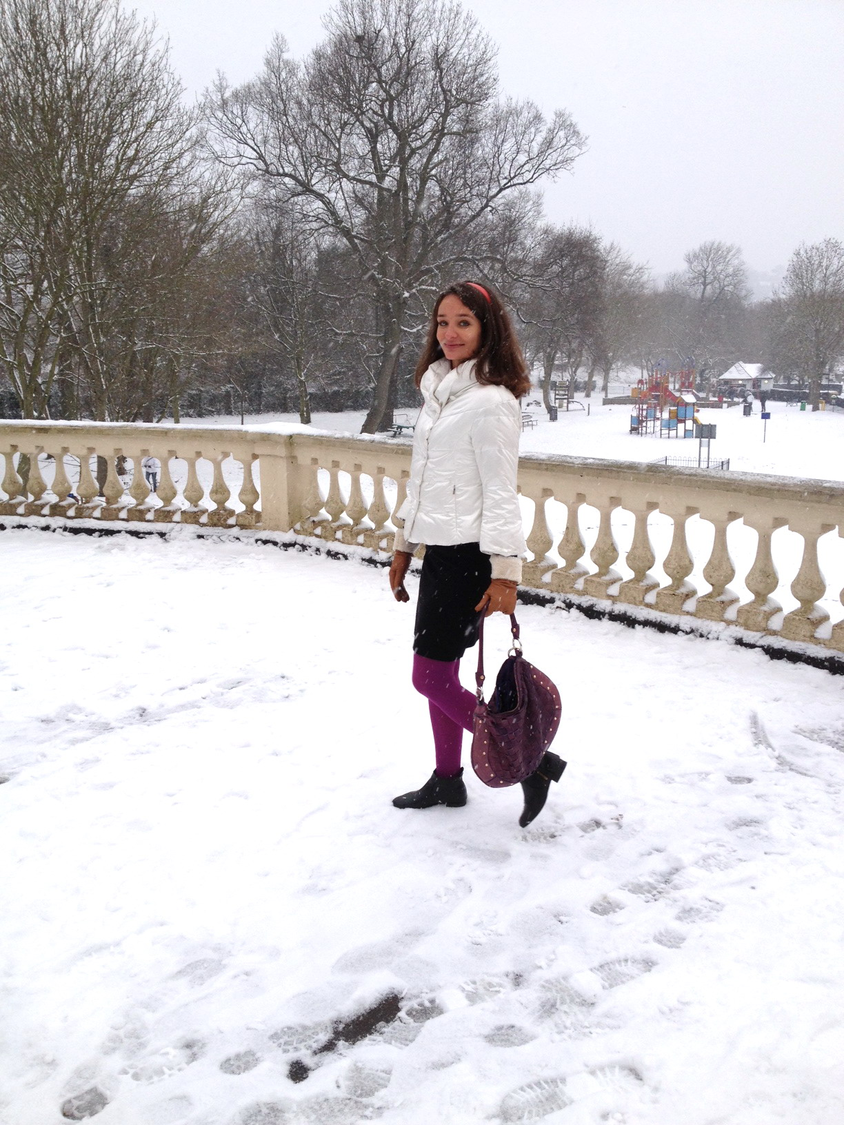 Romantique snowy London