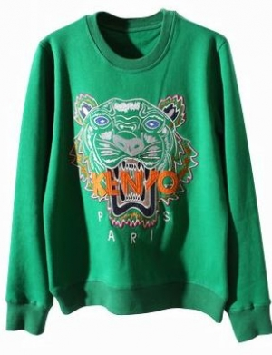 1-Buy-Street-Style-OAKLEY-Tiger-Embroidery-Sweater-Green