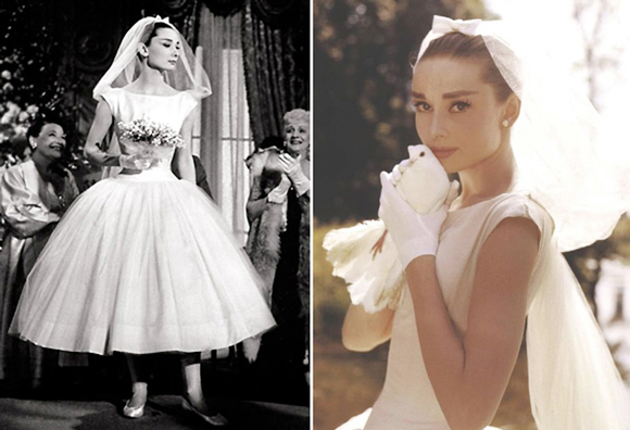 audrey hepburn funny face wedding dress romantique and rebel