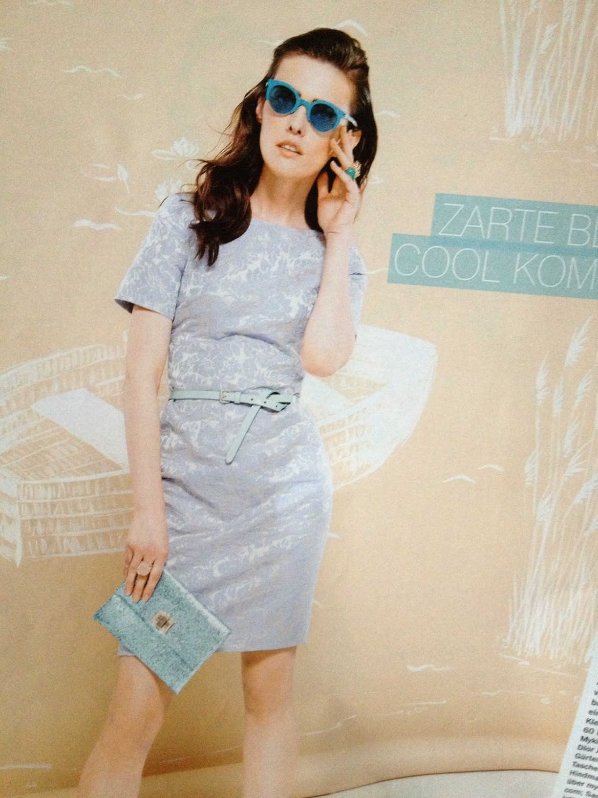 Light blue brocade dress from H&M