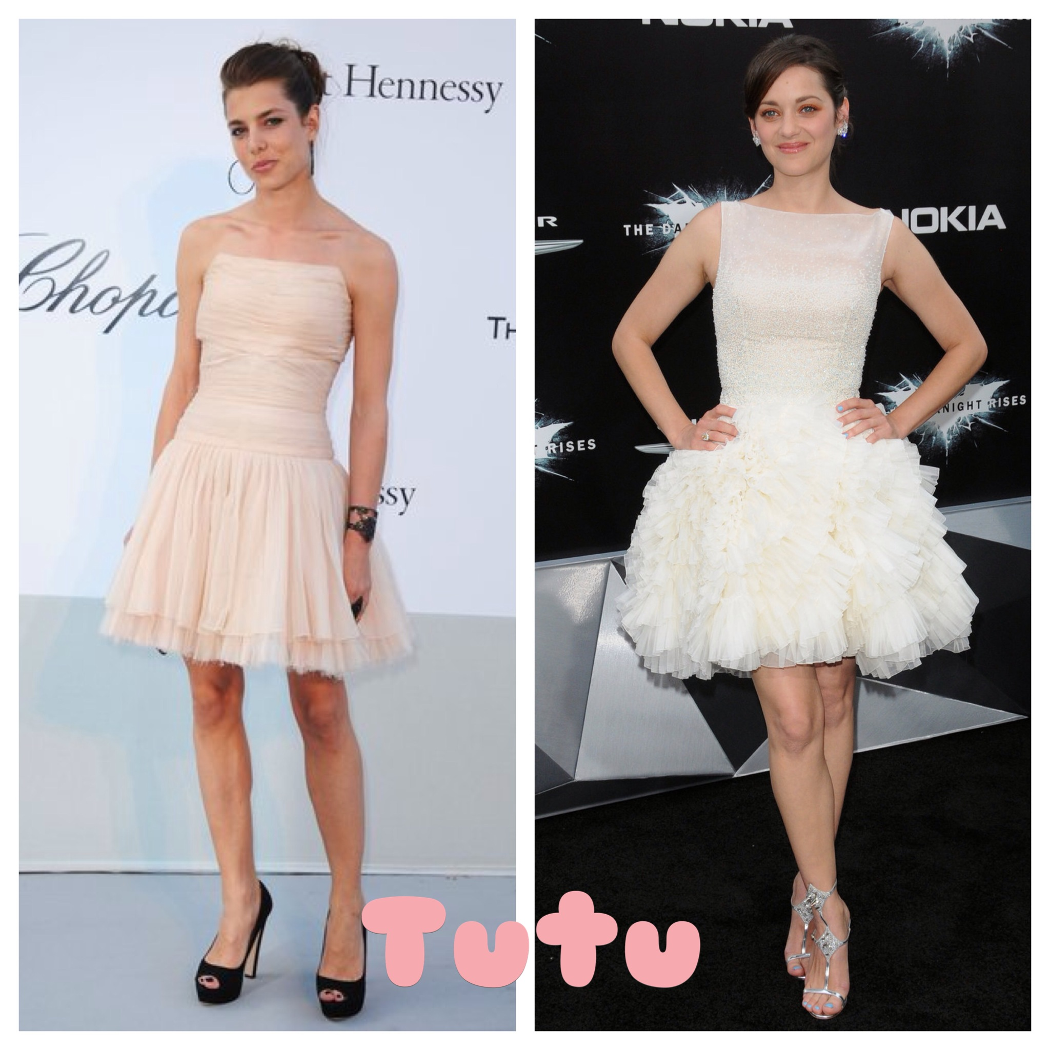 French Chic: Marion Cotillard and Charlotte Casiraghi in tutu dresses