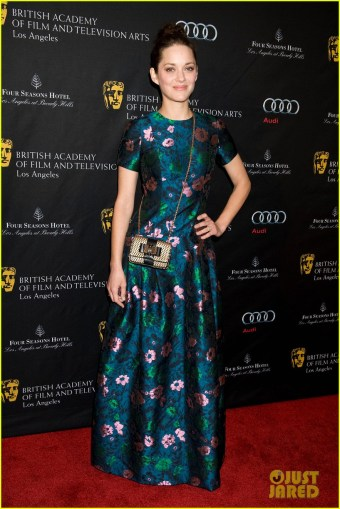 Marion Cotillard  floral Brocade dress