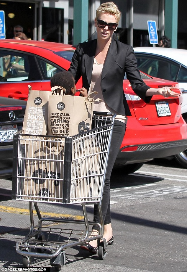 Charlize Theron at Whole Foods