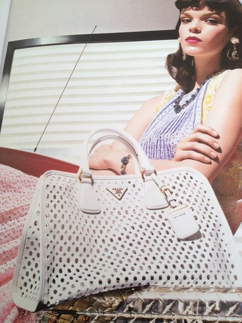 c7daef92982e ... closeout prada lead the way last summer with its white cut out bag  ss2012 1f276 b3938