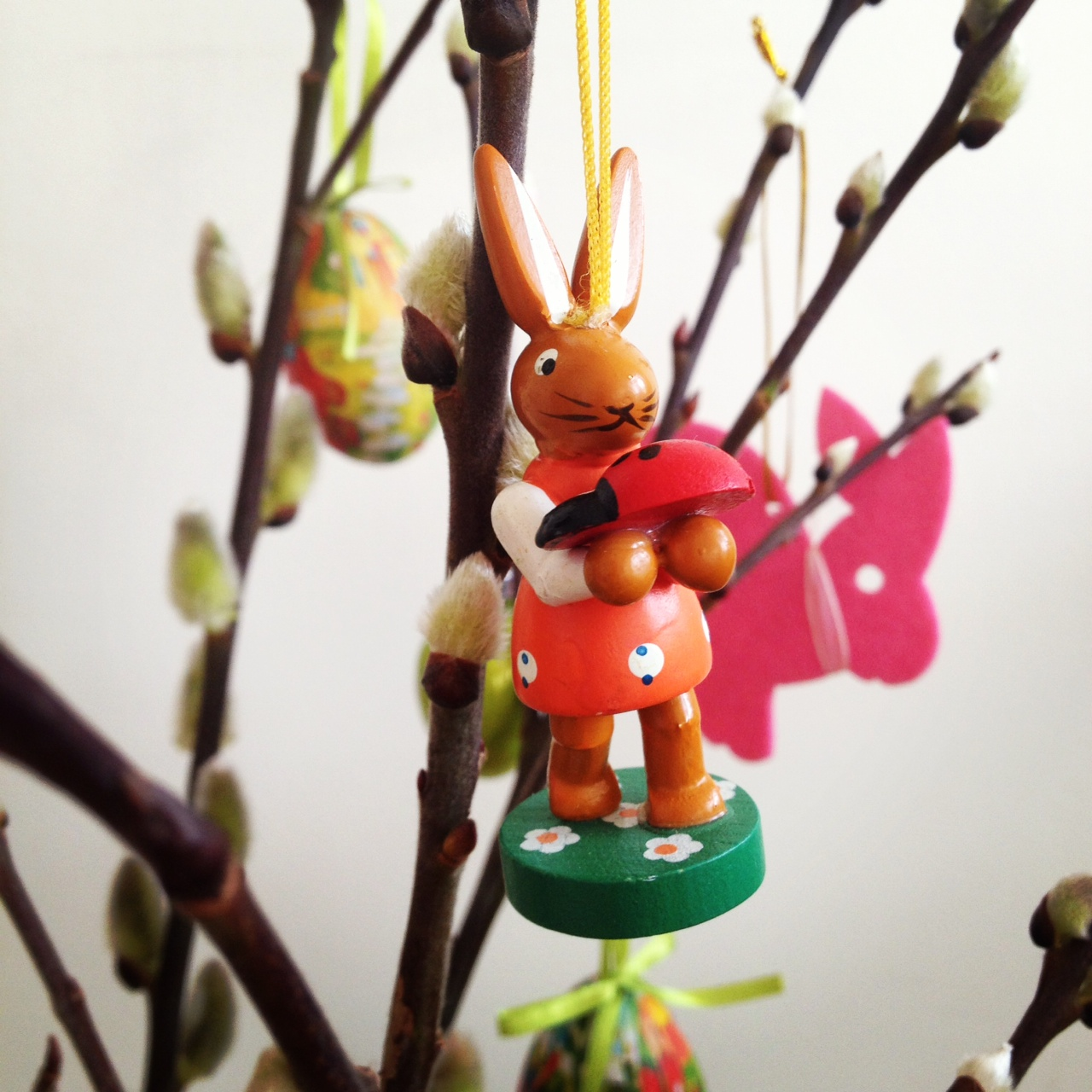 Easter egg tree wooden carved