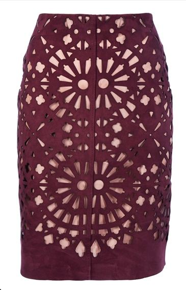 Lasercut pencil skirt carven