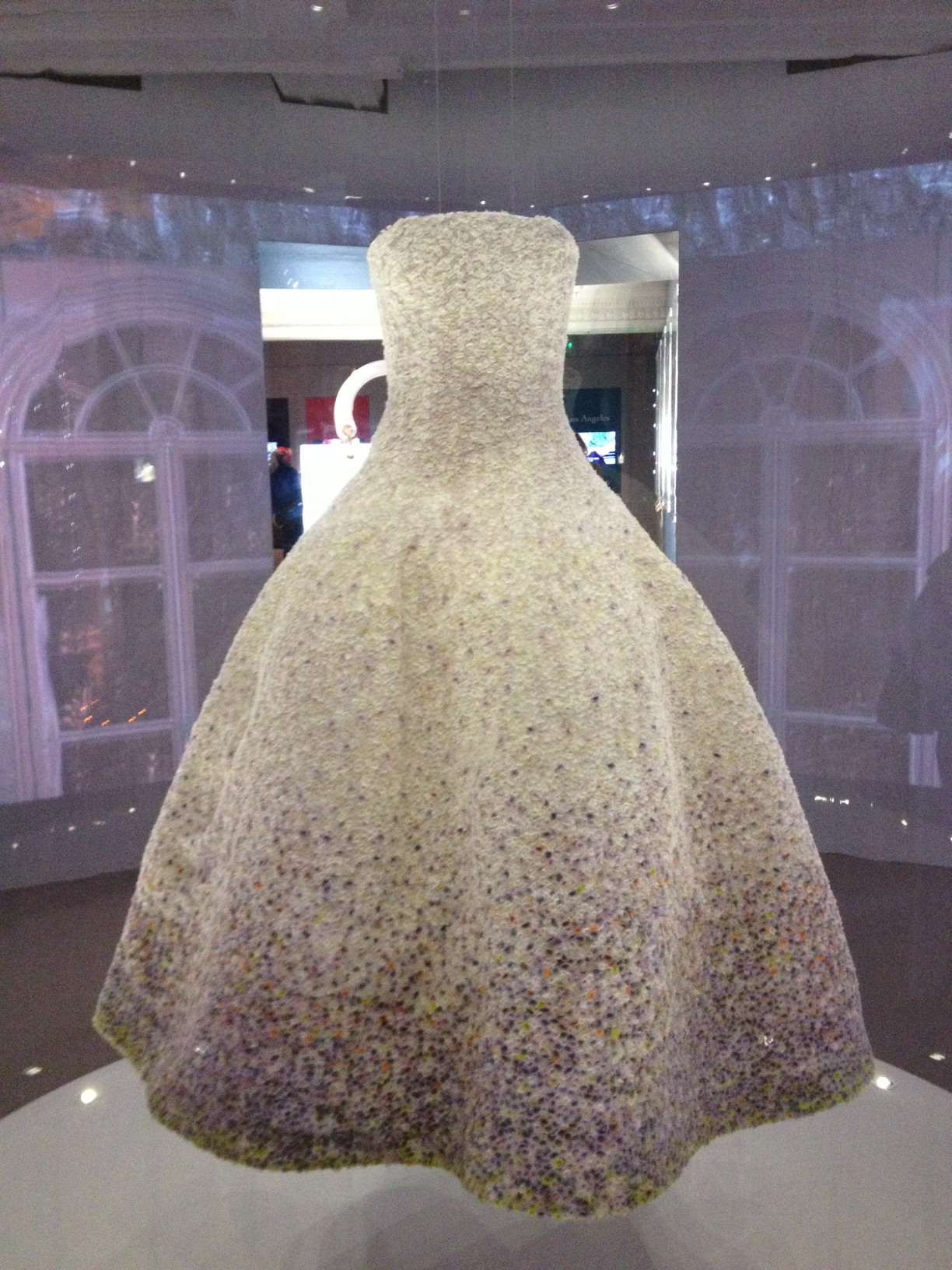 What. A. Dress. Stunning dress created by Dior's current creative director Raf Simons. It's made of thousands of applique, tiny flowers.