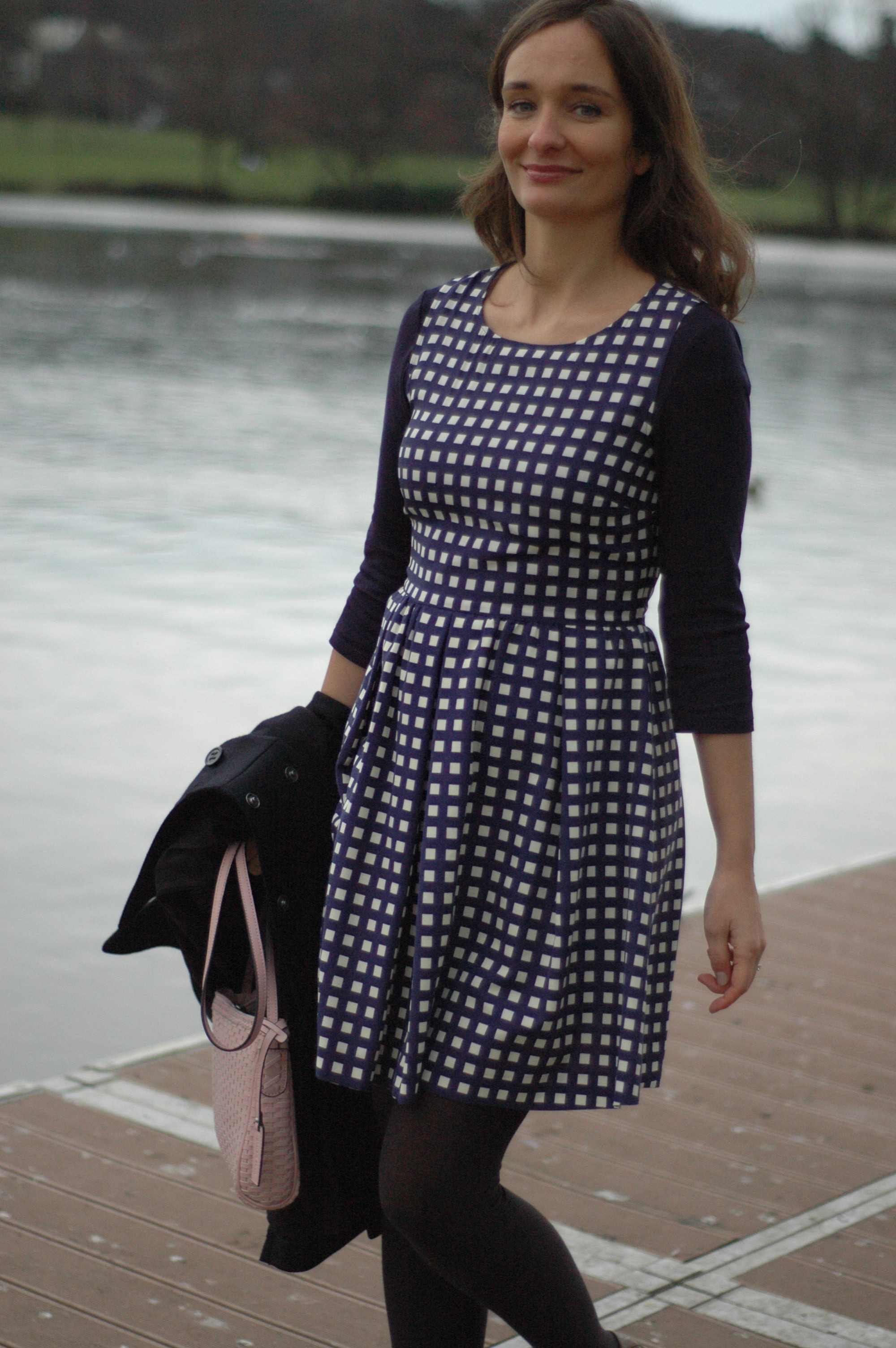 Blue checked dress Max & Co SS2013