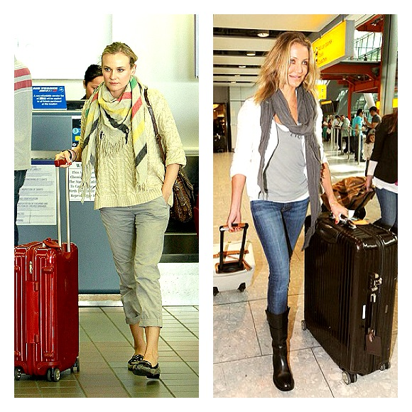 Cameron Diaz and Diane Krueger travel in style with super light Rimova suitcases