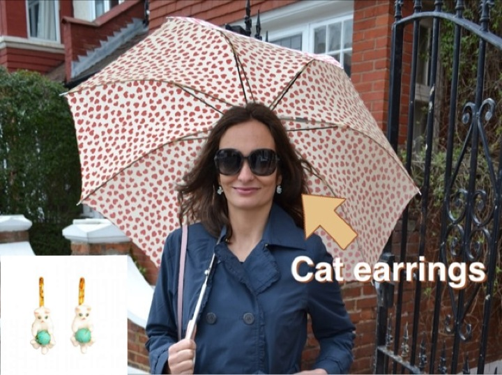 Les Nereides cat earrings