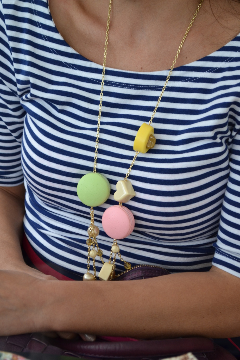 Long, draping Macaron necklace from N2 Les Nereides