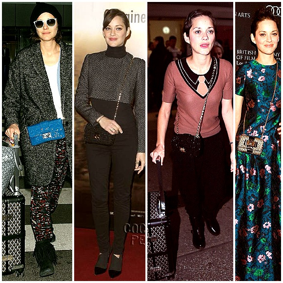 Marion Cotillard and her Dior cross body kindergarten bags
