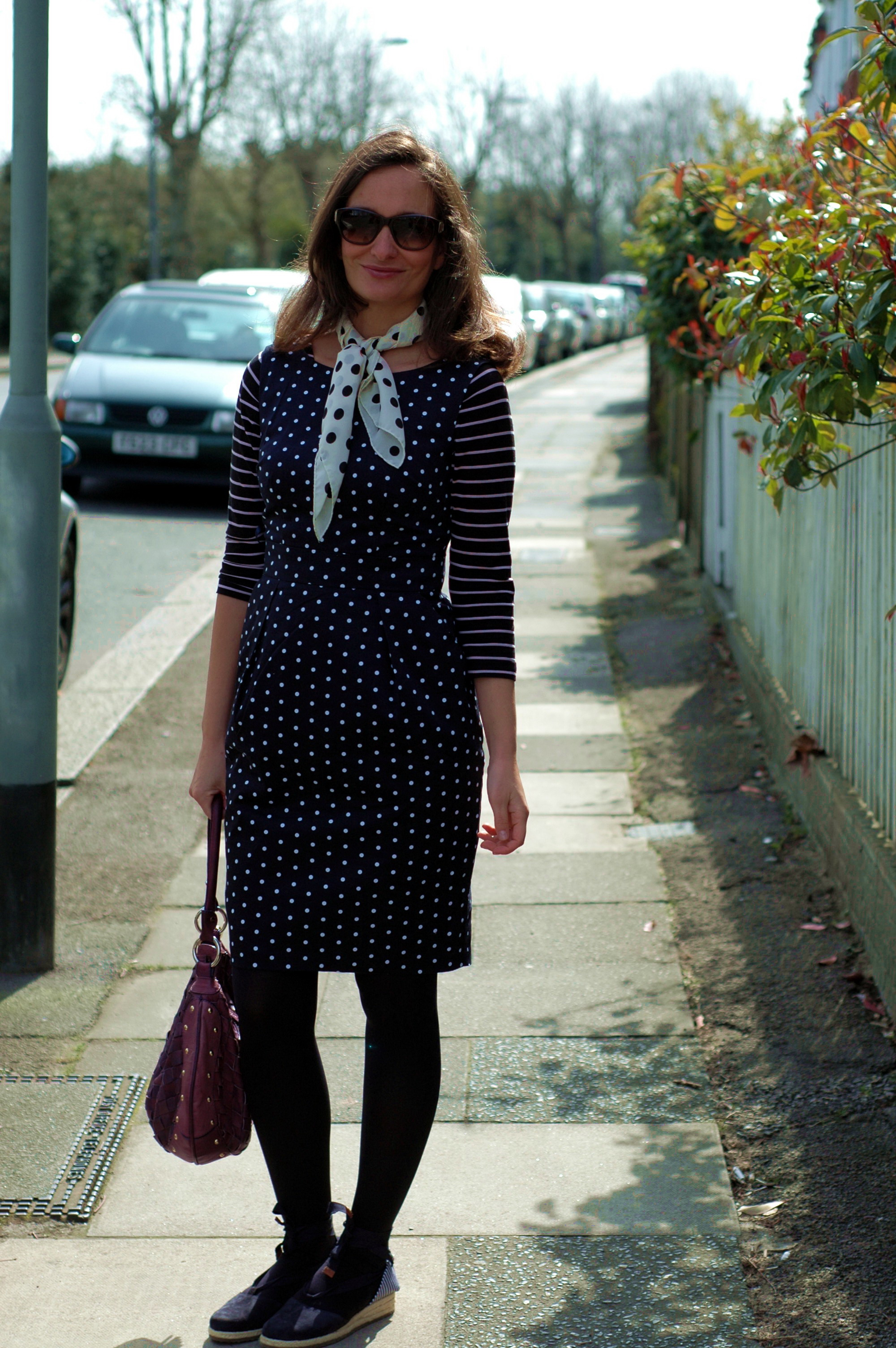 Polka dot dress Romantique