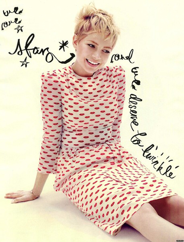 michelle williams we are stars-lips dress