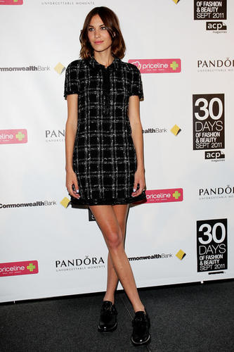 Alexa Chung in a Chanel Boucle  dress