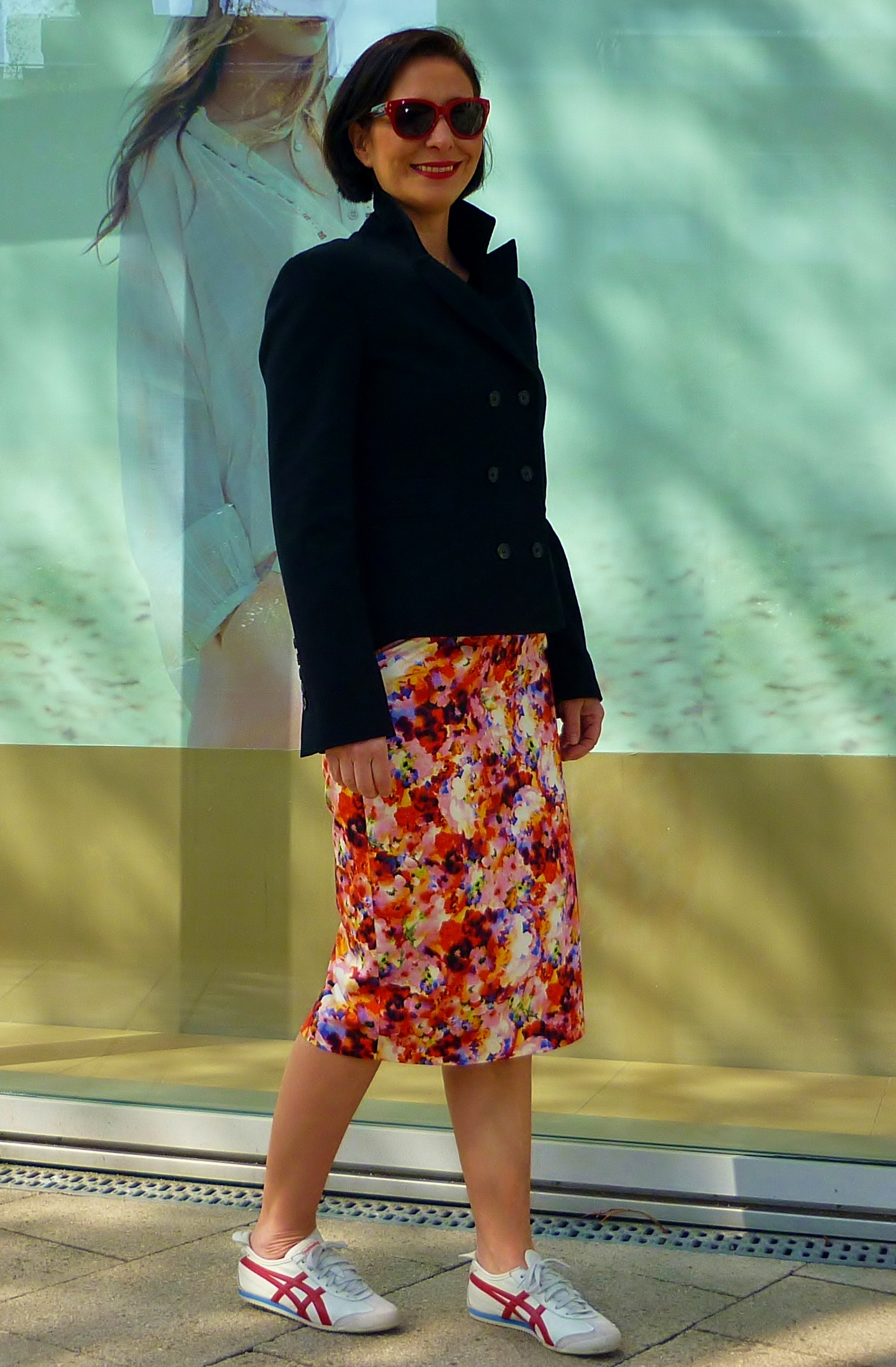 trainers-floral-pencil-skirt