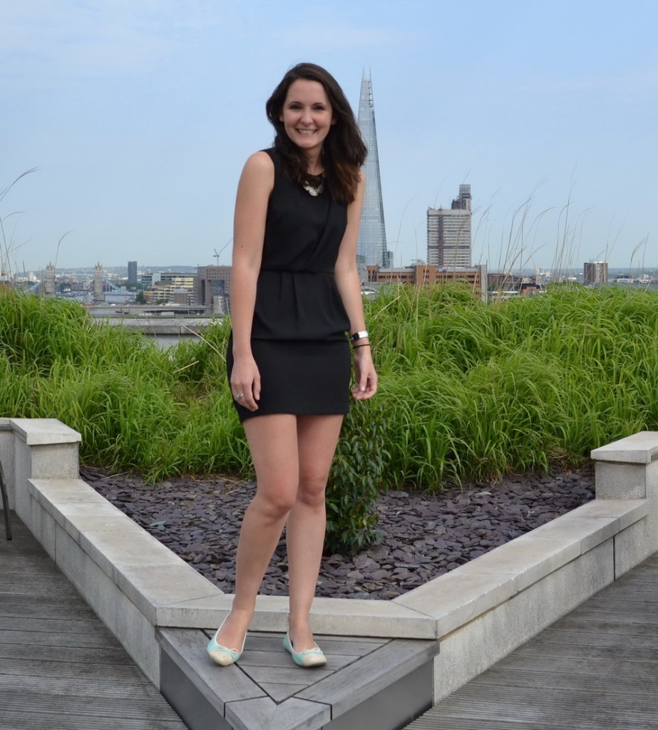 French Style Topshop dress black