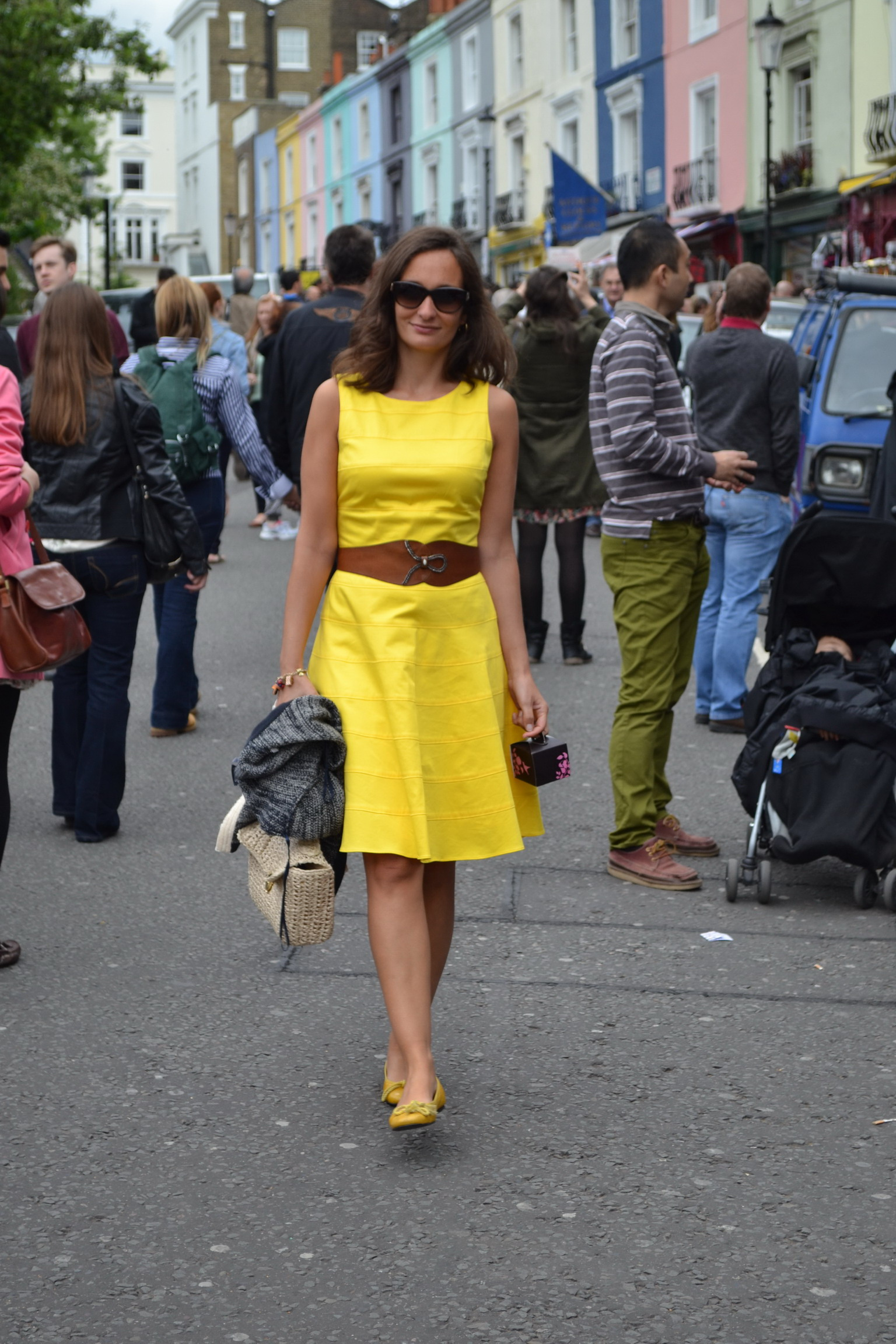 Notting Hill Yellow Skater Dress