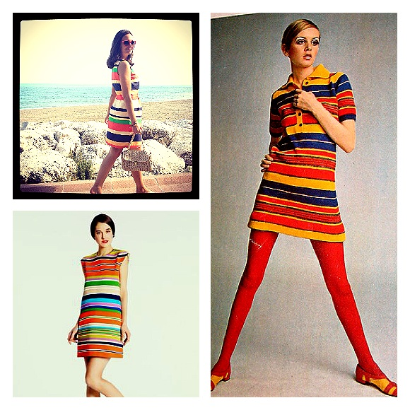 Stripey 60s dresses