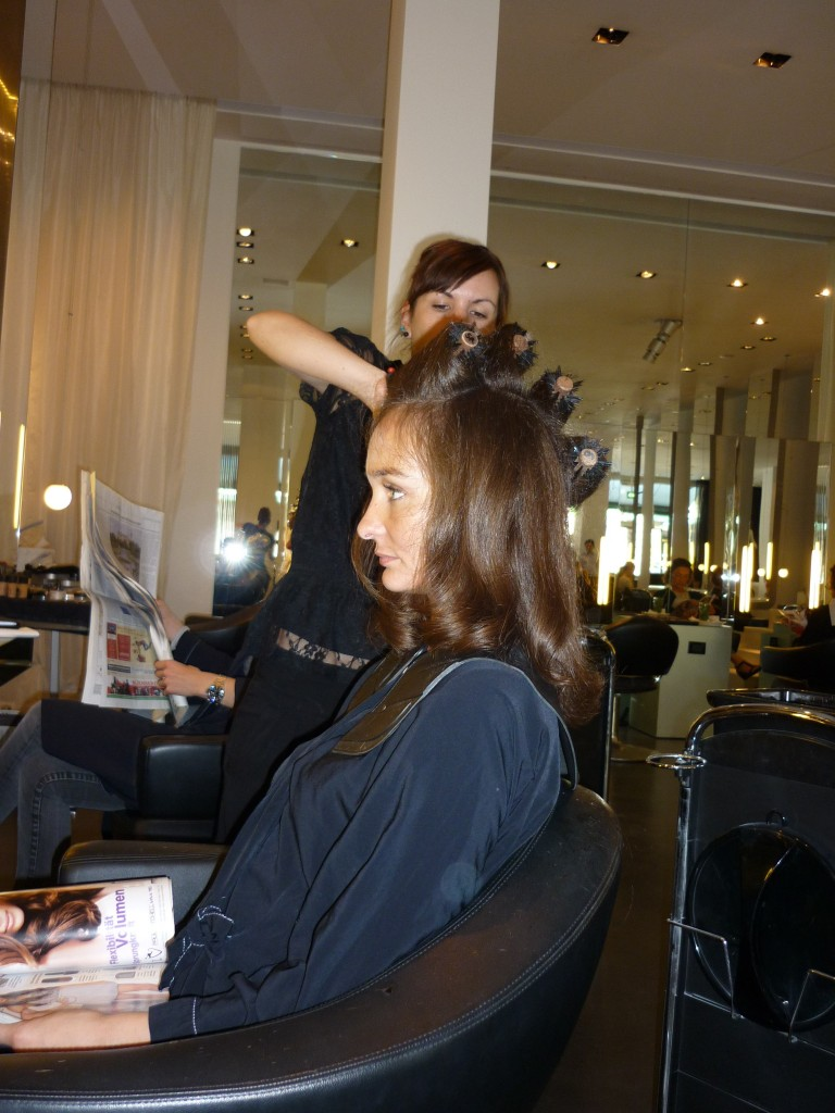 I'm getting my hair done at Berlin's It Salon Shan Rahimkhan