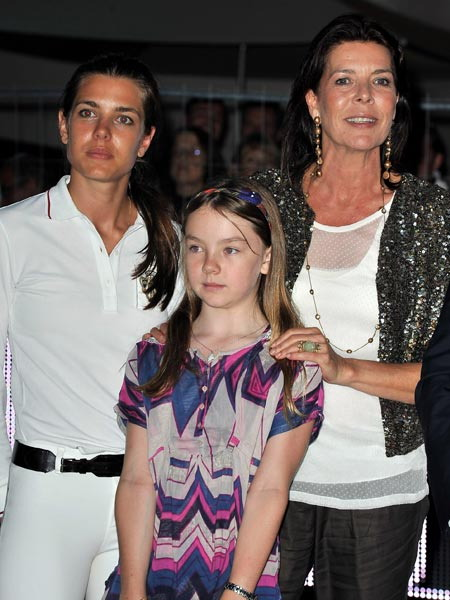 Caroline of Monaco with her impeccable mannered daughters. Drop dead gorgeous Charlotte and Alexandra.