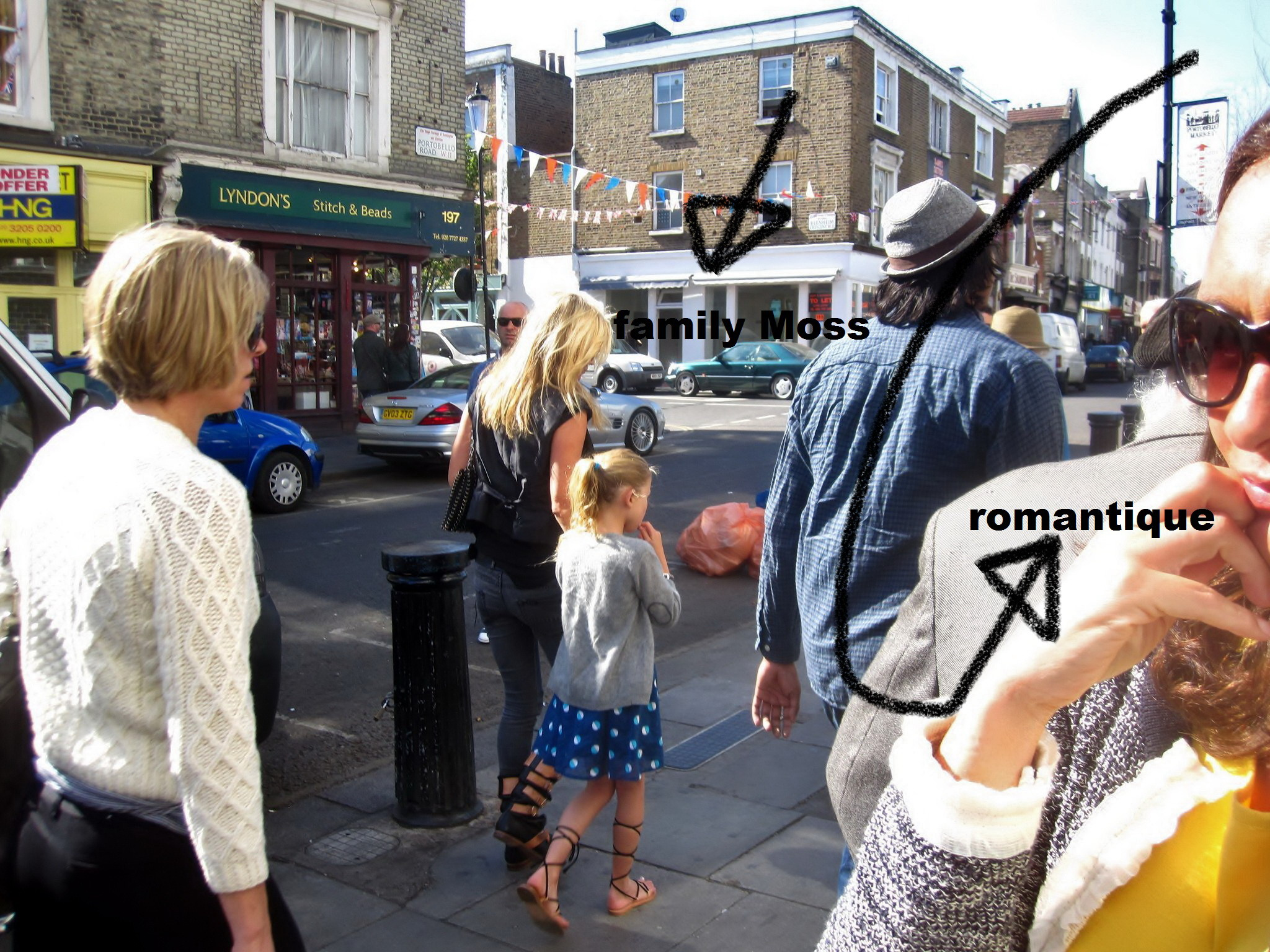 We bumped into Kate Moss in Notting Hill two years ago. Her daughter, Lila Grace, seemed very cute and well mannered. She was patiently waiting while her mum met with friends and chatted for a while in front of the shops.