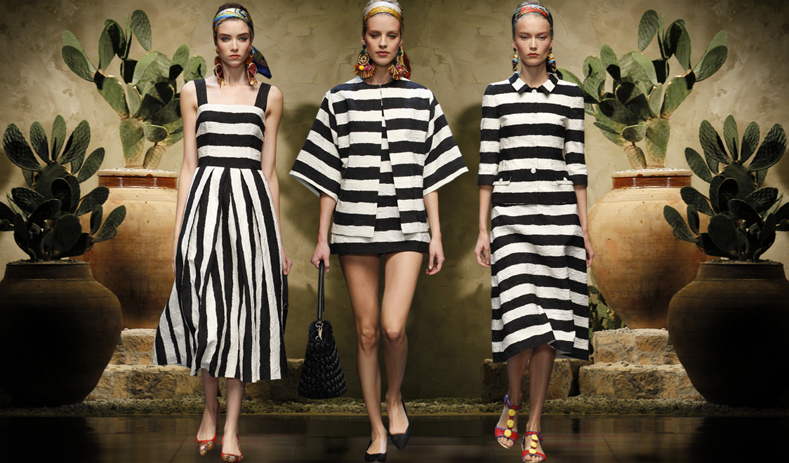 Black and white Stripes at Dolce & Gabbana SS 2013