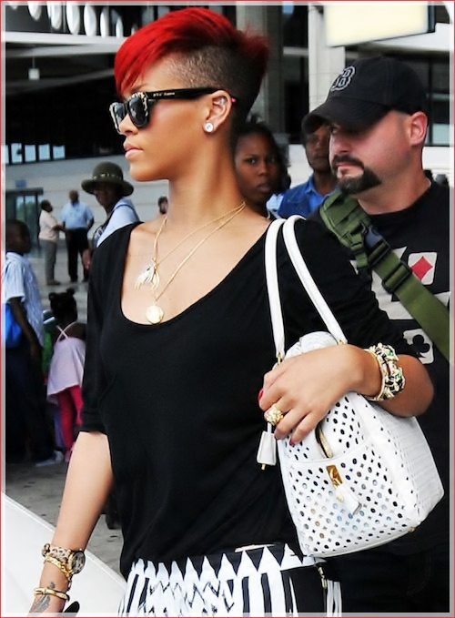 Rihanna is spotted at Barbados' airport.
