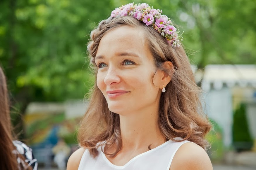 Romantique floral head piece