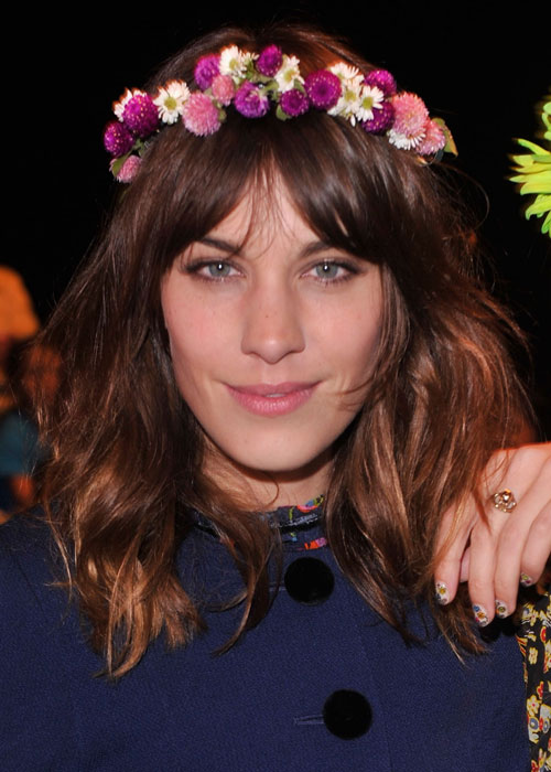 This is how I got inspired to wear a floral head piece: By the lovely Alexa Chung