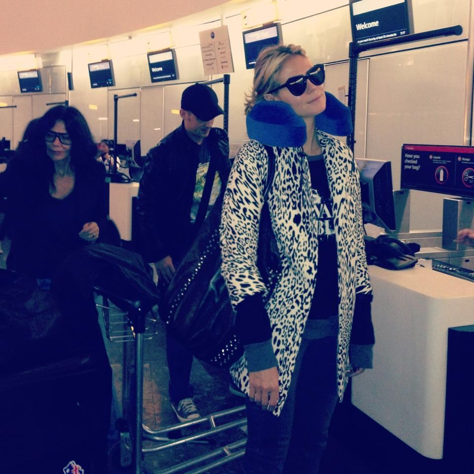 Heidi-Klum-animal-print-coat-zara