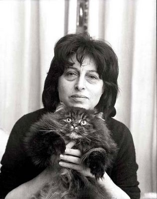 Anna Magnani with one of her cats