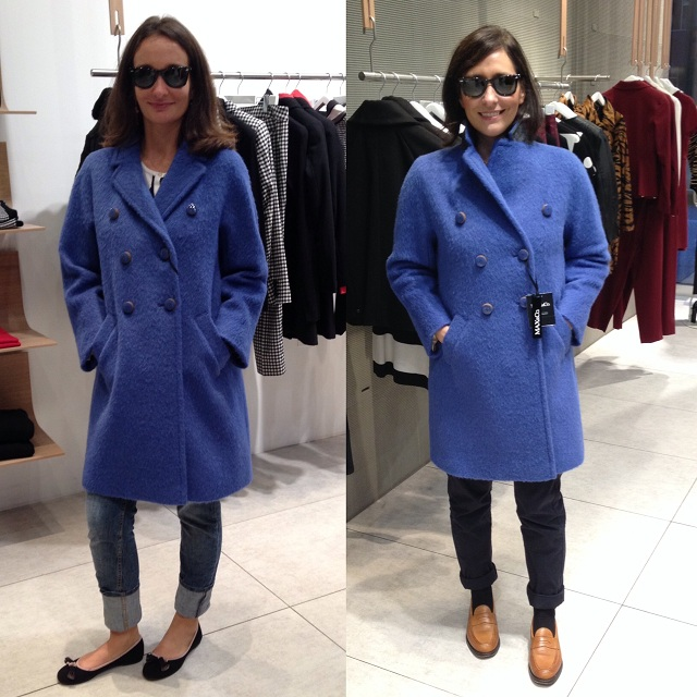 Blue Mohair Classic Coat Max & Co