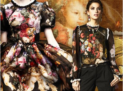Remember Dolce and Gabbana's wonderfully baroque AW 2012 collection? Inspired by the opulent churches and the baroque if Italy