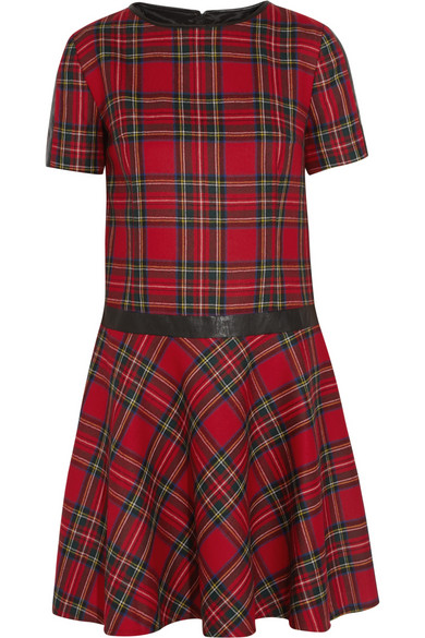 Karl LAgerfeld red tartan dress