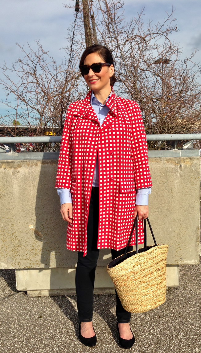 Red Gingham Coat from Max & Co