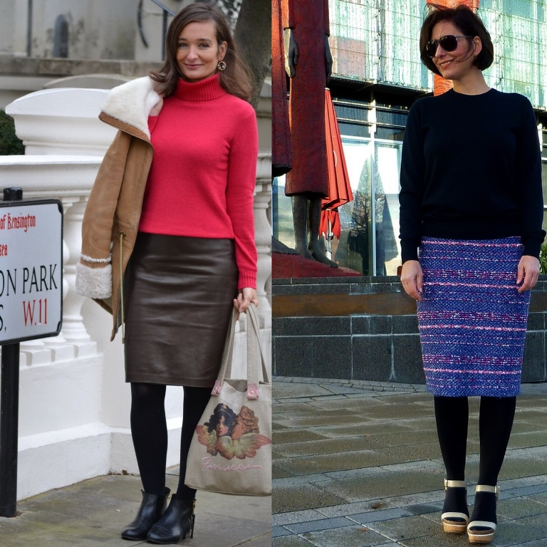 Pencil Skirt Streetstyle two ways to wear