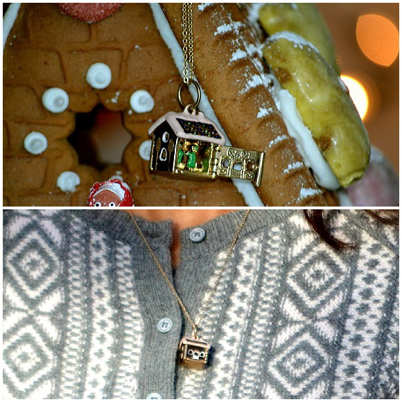 My favourite fairy tale, Haensel & Gretel, hidden in this ueber-cute gingerbread house locket from Les Nereides. THE expert for everything cute, creative and fantasy filled!