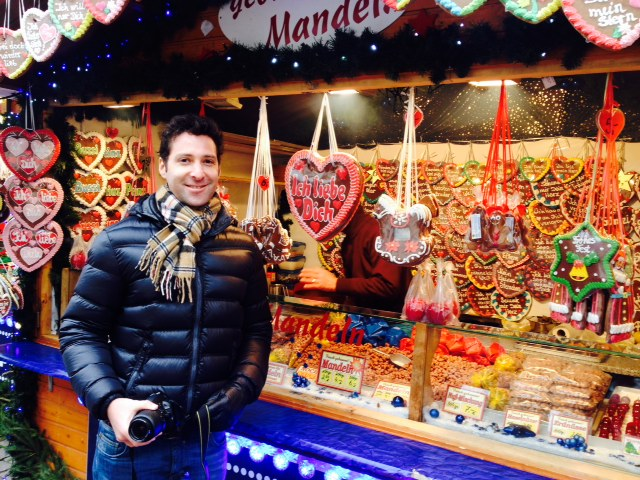 Mr Romantique at the Christmas market