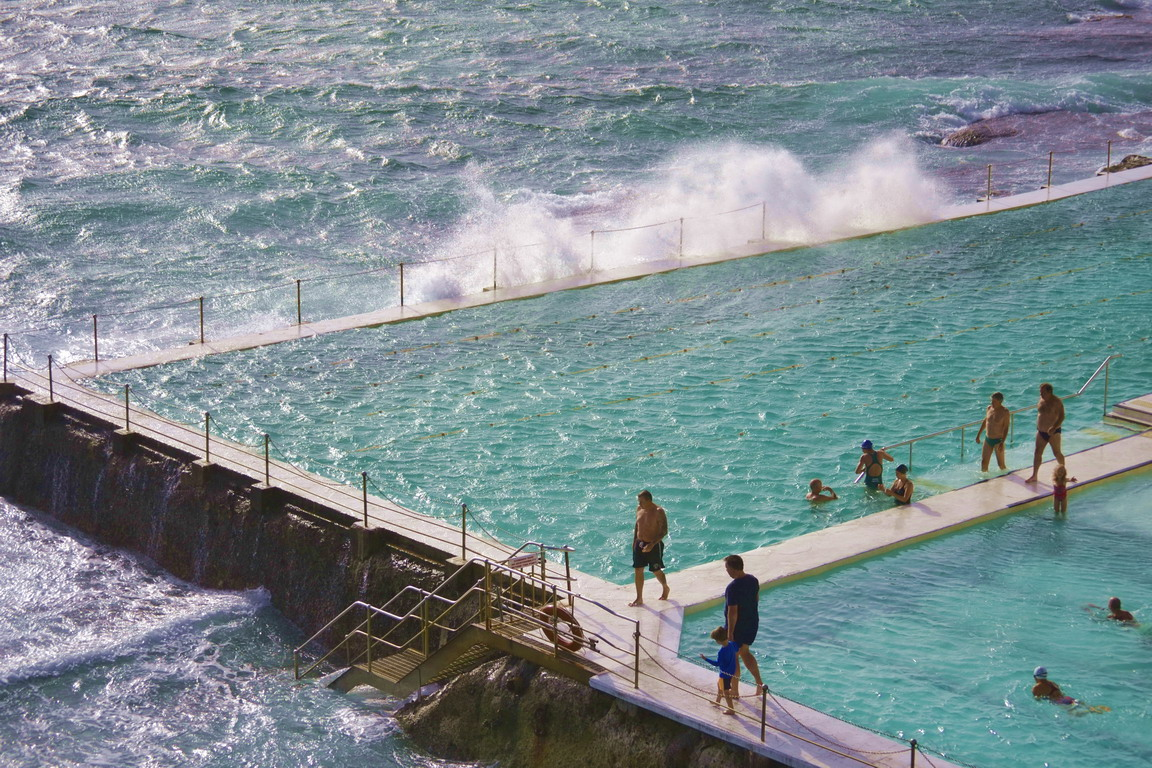 Bondi's Iceberg Outdoor Pool set in the middle of the ocean