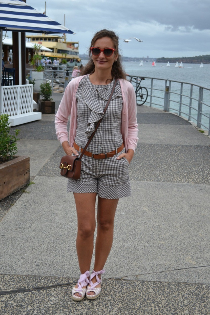 Manly Australia Gingham Playsuit Max Mara