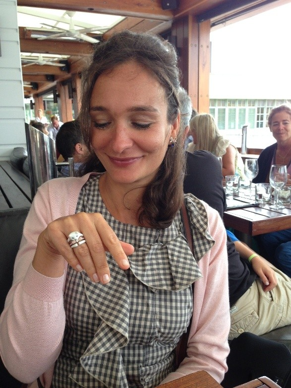 All cat lovers will enjoy my cat ring from Les Nereides ;-)
