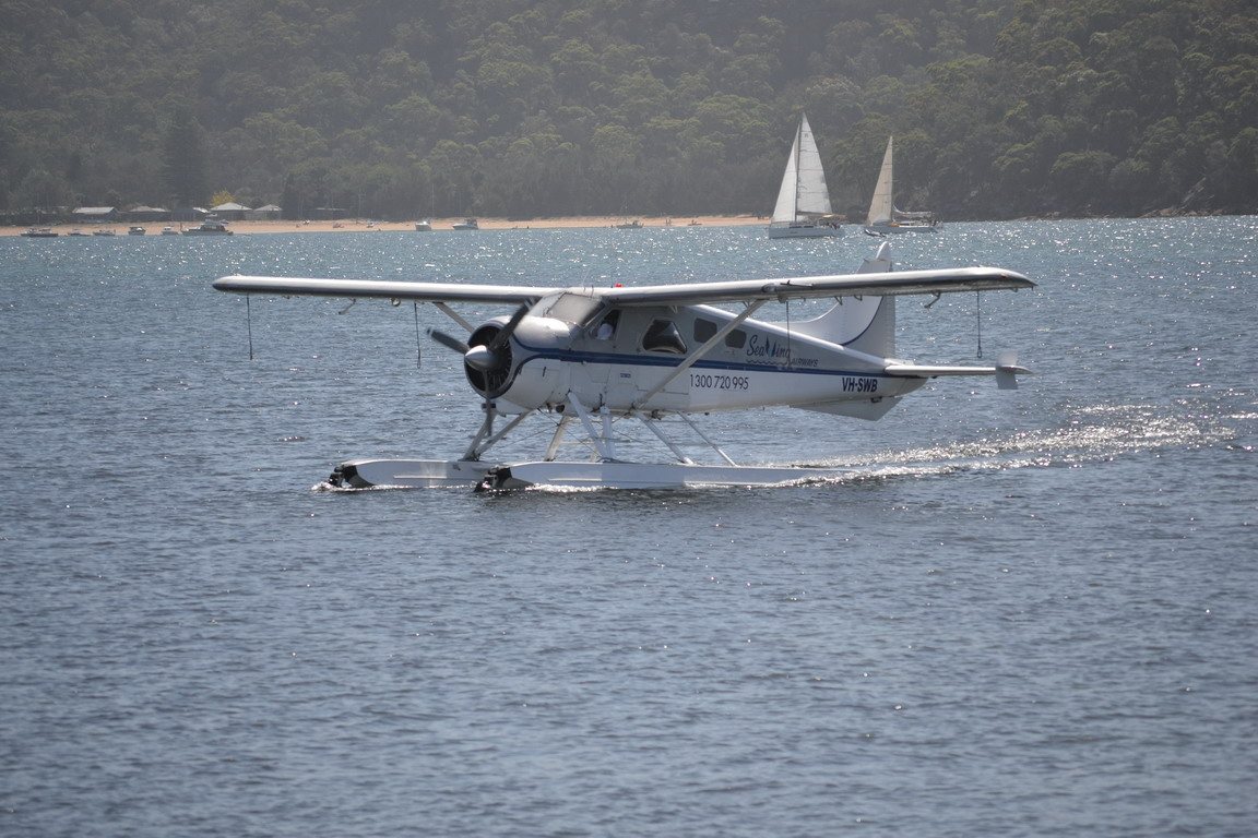 Fancy a sea plane flight to take in the Northern beaches? Sea planes start from the pier at the boat house.
