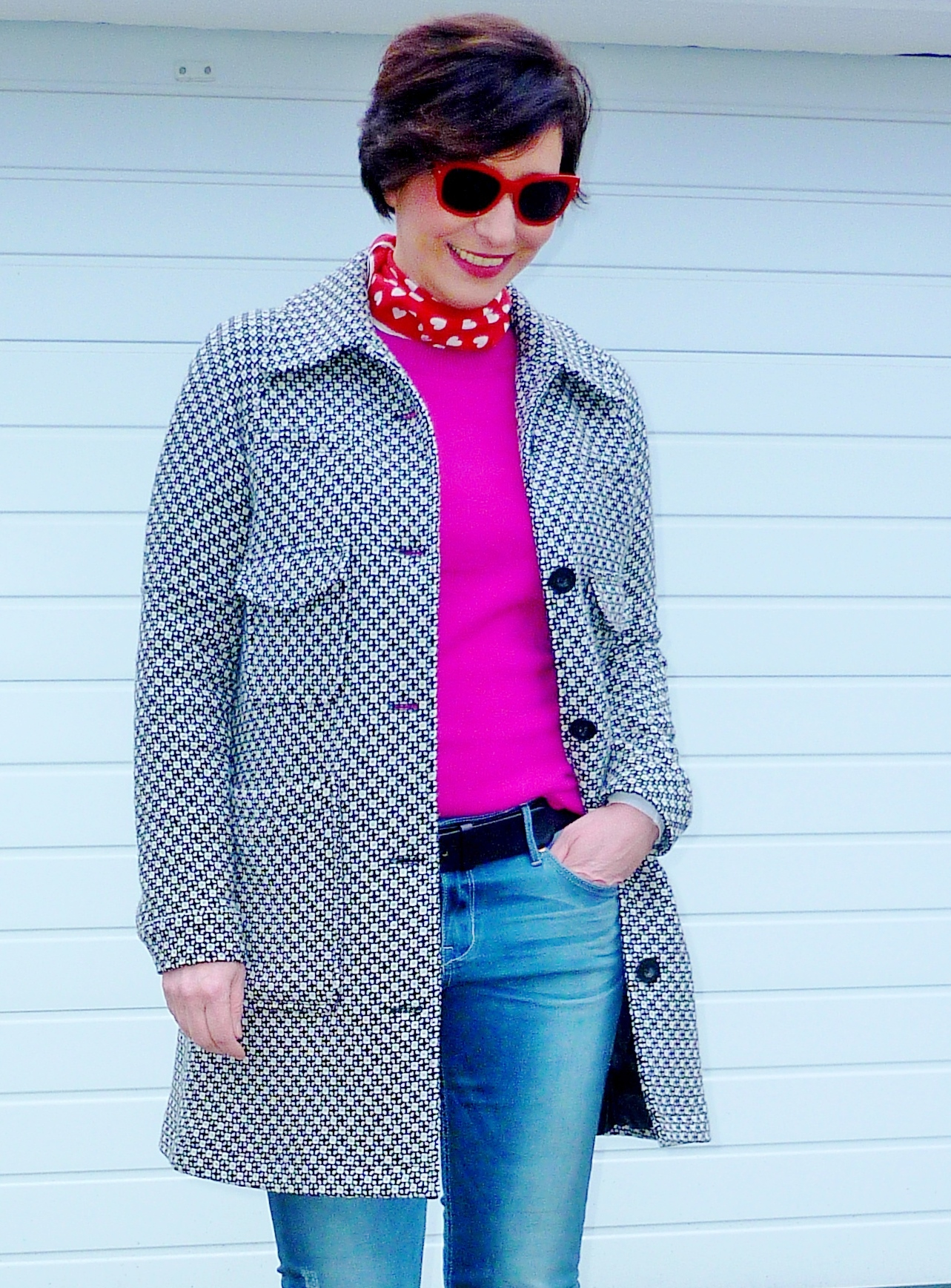 Streetstyle-Casual-Winter-red-pink-combination
