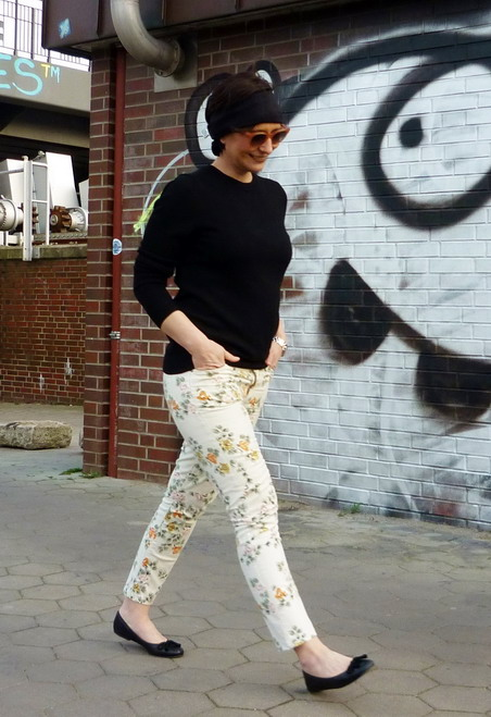 BB style. Floral  citizen of humantiy  jeans, pretty ballerina